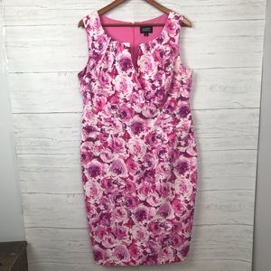 ADRIANNA PAPELL WOMAN FLORAL DRESS